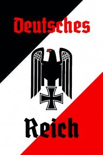 Deutsches reich mit adler blechschild