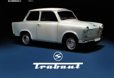 Trabant trabbi DDR Ostalgie blechschild - Vorschau