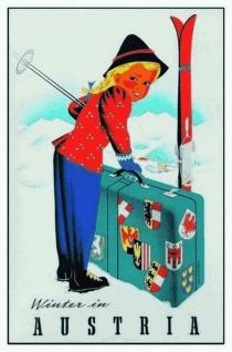 Nostalgie: Winter in Austria Blechschild 20x30 cm