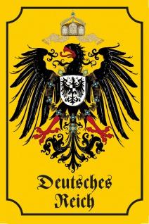 Blechschild Deutsches Reich (Wappen, Adler) Metallschild Deko 20x30cm tin sign
