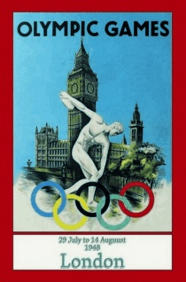 Nostalgie: London Olypmic Games 1948 Blechschild 20x30 cm