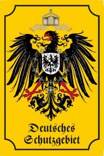 Deutsches Schutzgebiet Historisches Wappen Blechschild, Deutsches reich, Adler, dekoschild