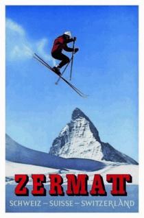 Zermat (Schweiz) Blechschild 20x30 cm