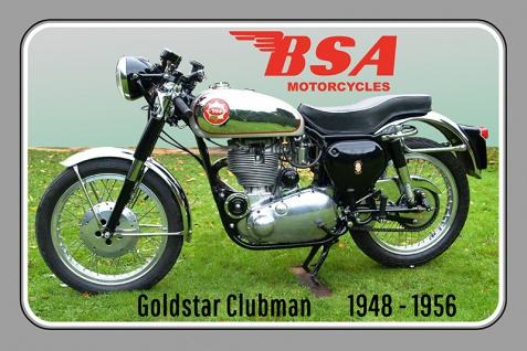 BSA Goldstar Clubman 1948-1956 40PS motorrad, motor bike, motorcycle blechschild