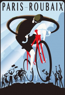 Blechschild Paris 1896 Roubaix (Fahrrad) Metallschild Wanddeko 20x30cm tin sign