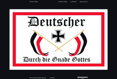 Retro: Deutscher - durch die Gnade Gottes Blechschild 20x30 cm