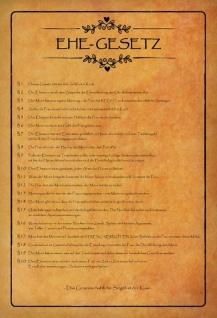 Blechschild Ehe Gesetz Das Gemeinschaftliche Siegel ist der Kuss Metallschild Wanddeko 20x30 cm tin sign