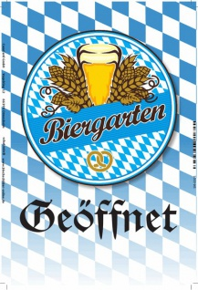 Biergarten Geöffnet, oktoberfest, bayern, blechschild