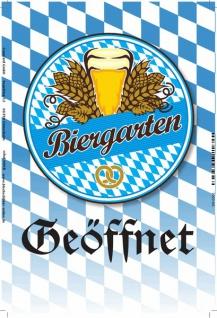 Biergarten geöffnet Blechschild 46x10