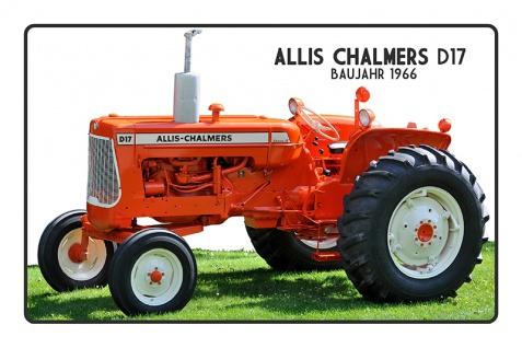 Allis Chalmers D17 Baujahr 1966 tracktor trekker blechschild