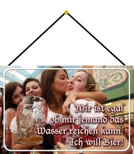Blechschild Bier Spruch Mädels Wasser reichen Metallschild Deko 20x30 mit Kordel