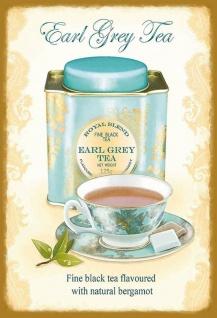 Earl Grey Tea Metallschild Wanddeko 20x30 cm tin sign