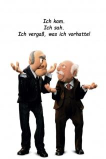 Blechschild Spruch Waldorf & Statler Ich vergaß Metallschild Wanddeko 20x30 cm tin sign