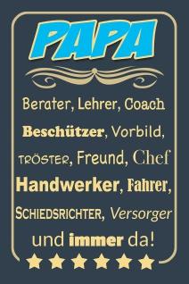 Blechschild Spruch Papa Metallschild Wanddeko 20x30 cm tin sign