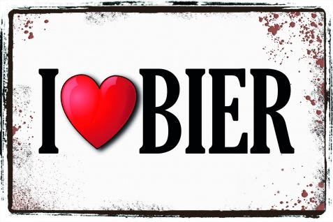 I love Bier, ich liebe bier blechschild
