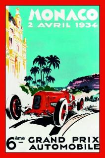 Formel 1 Grand Prix Monaco 1934 Autorennen blechschild