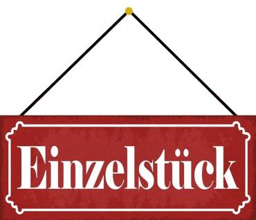 Schatzmix Blechschild Einzelstück Metallschild Wanddeko 27x10 cm tin sign mit Kordel