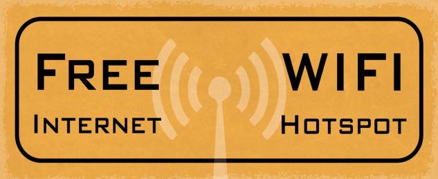 Blechschild Spruch FREE WIFI Internet Hotspot Metallschild 27x10 Deko tin sign