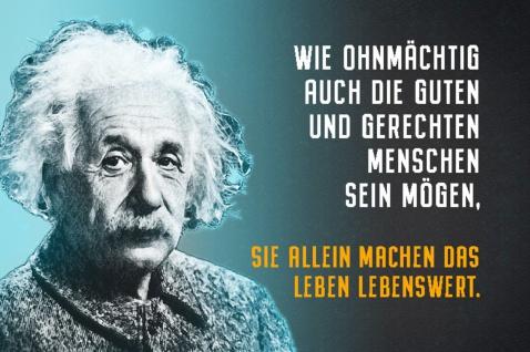 Blechschild Spruch Wie ohnmächtig Menschen A.Einstein Metallschild Wanddeko 20x30 cm tin sign