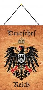 Blechschild Deutsches Reich Adler Wappen Pergamentlook Metallschild 20x30 Kordel