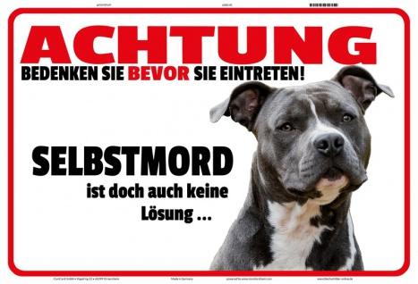 Blechschild Warnschild Selbstmord keine Lösung -Hund Metallschild 20x30 tin sign