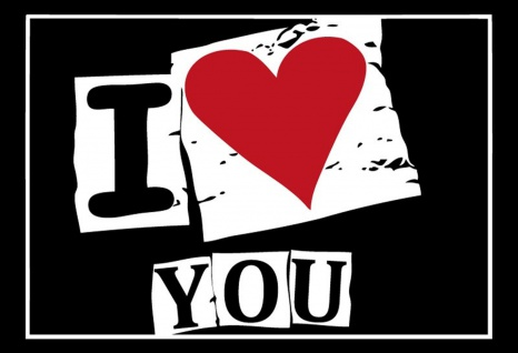 Blechschild Spruch I Love You Metallschild Wanddeko 20x30 cm tin sign