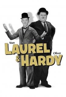 Blechschild Laurel & Hardy (Dick & Doof) mit Text Metallschild Wanddeko 20x30 cm tin sign