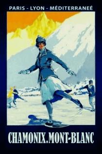 Nostalgie: Chamonix - Mont Blanc Blechschild 20x30 cm