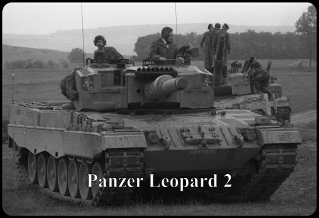 Blechschild Panzer Leopard II Metallschild Wanddeko 20x30 tin sign
