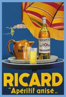 Ricard anis aperitif blechschild