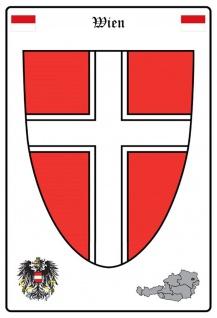 Blechschild Wien Wappen Metallschild Wanddeko 20x30 cm tin sign