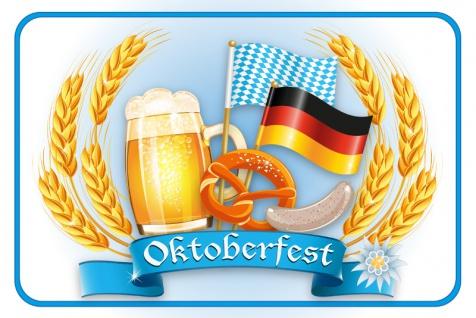 Oktoberfest Blechschild, funschild, bier, brezel, Bayern, Bavaria, Octoberfest, dekoschild