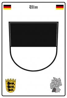 Blechschild Stadt Ulm Wappen Straßen Metallschild Wanddeko 20x30 cm tin sign