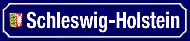 Schleswig-Holstein strassenschild Bundesland mit Wappen blechschild 46x10cm