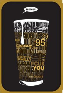Bier blechschild, spruchschild, USA, städte Amerika, reklame, kneipe