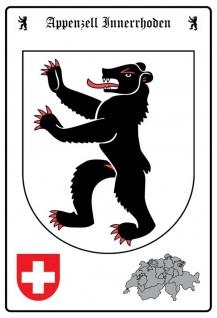 Blechschild Appenzell Innerrhoden Wappen Metallschild Wanddeko 20x30 cm tin sign