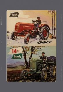 Bautz 350 / 14PS diesel schlepper traktor trekker blechschild