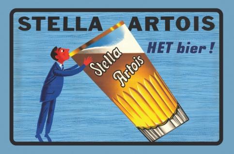 Stella Artois bier reklame blechschild
