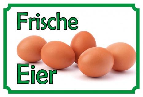 Blechschild Frische Eier Metallschild Wanddeko 20x30 cm tin sign