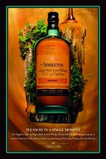 The singleton scotch whisky blechschild