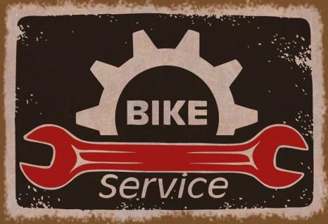 Blechschild Bike Service Metallschild Wanddeko 20x30 cm tin sign