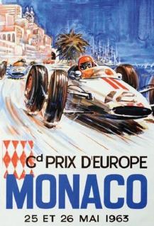Formel 1 Grand Prix Monaco 1973 Autorennen blechschild - Vorschau