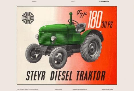 Steyr 180 30 Ps diesel traktor Trekker Schlepper blechschild