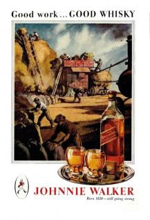 Johnnie Walker whisky good work good whisky blechschild