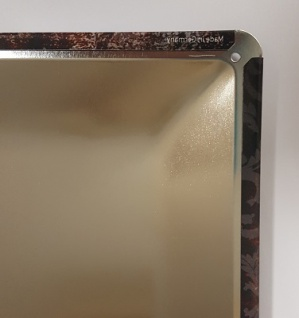 Im Herzen barfuss. (Strand, Spuren) Spruchschild Blechschild 20x30 cm - Vorschau 2