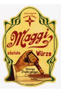 Maggie edelste würze reklame blechschild