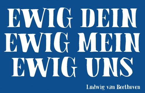Blechschild Spruch Ewig uns Metallschild Wanddeko 20x30 cm tin sign
