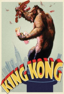 King Kong film plakat Empire State Building Blechschild