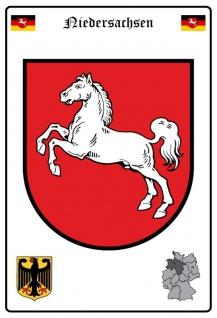 Niedersachsen wappen blechschild