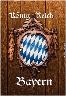 Königreich Bayern mit holzschild, oktoberfest blechschild
